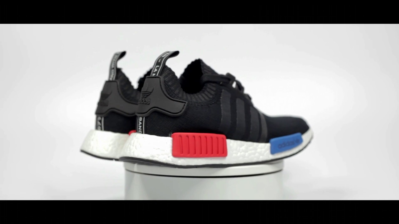 Adidas NMD R1 Rainbow Multi Color Black Primeknit Size 10.5 limited