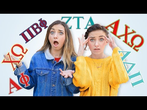 We Joined a SORORITY! | Can You Guess Which One?