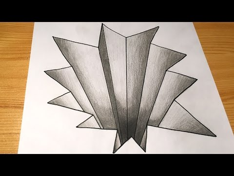 Trick Art on Paper 3D Drawing Hole