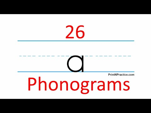 26 Phonograms On Flash Card Video You Can Use With Phonics