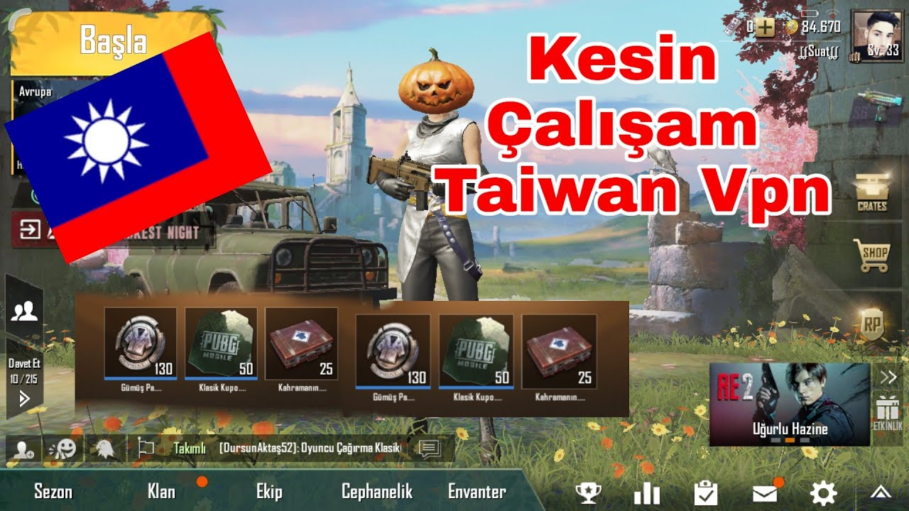 Pubg Mobil Yeni Taiwan VPN 30 Sandık Kesin Çözüm