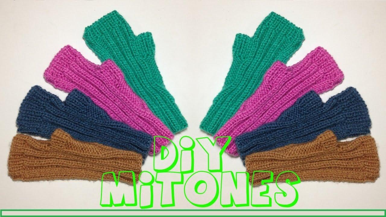 Cómo tejer mitones o guantes sin dedos. - YouTube