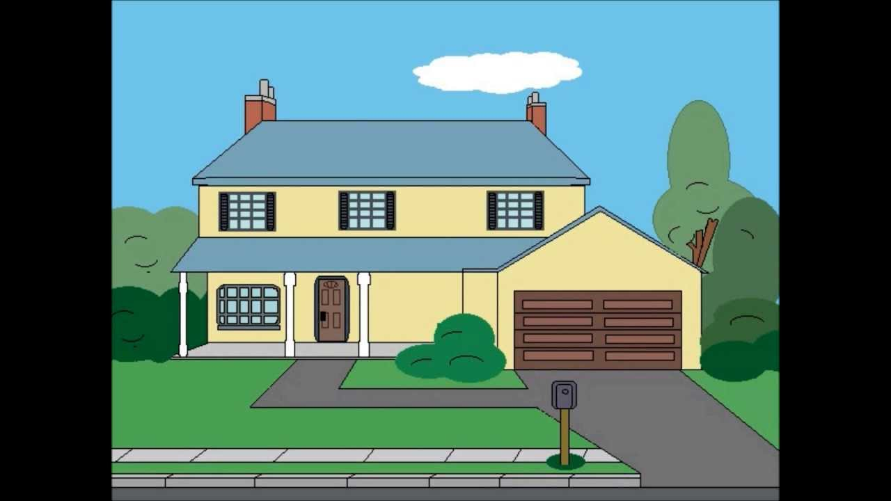 Drawing american dad house stop motion animation youtube for American house music