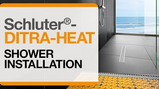 How To Install DITRA HEAT Electric Floor Warming In A Shower. Schluter  Systems Nor.
