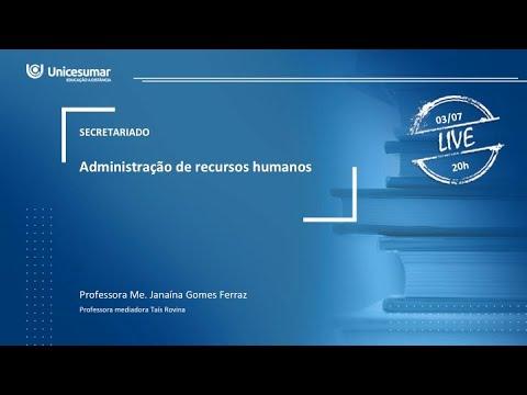live---aula-4---2ºano---administraÇÃo-de-recursos-humanos
