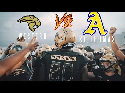 BIGGEST GAME OF THE SEASON!!    Western VS St.Thomas Aquinas   High School Football