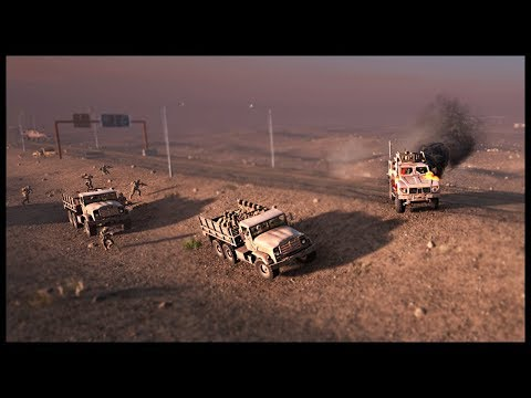 HUGE CONVOY AMBUSHED! US 30-man Motorized Infantry Platoon Convoy - Squad Gameplay