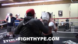 CANELO ALVAREZ PRACTICES MAYWEATHER PULL COUNTER; TRAINING NEW SKILLS FOR LIAM SMITH CLASH