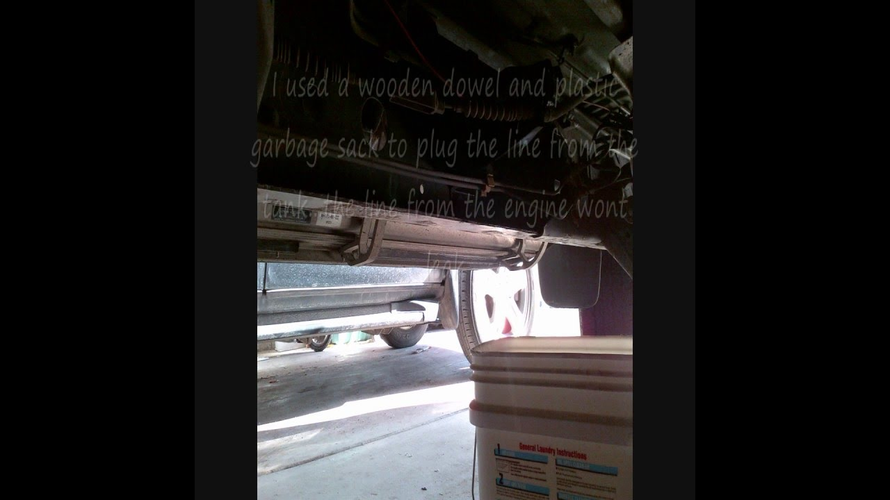 2000 Toyota Tundra Fuel Filter Replacement - How To
