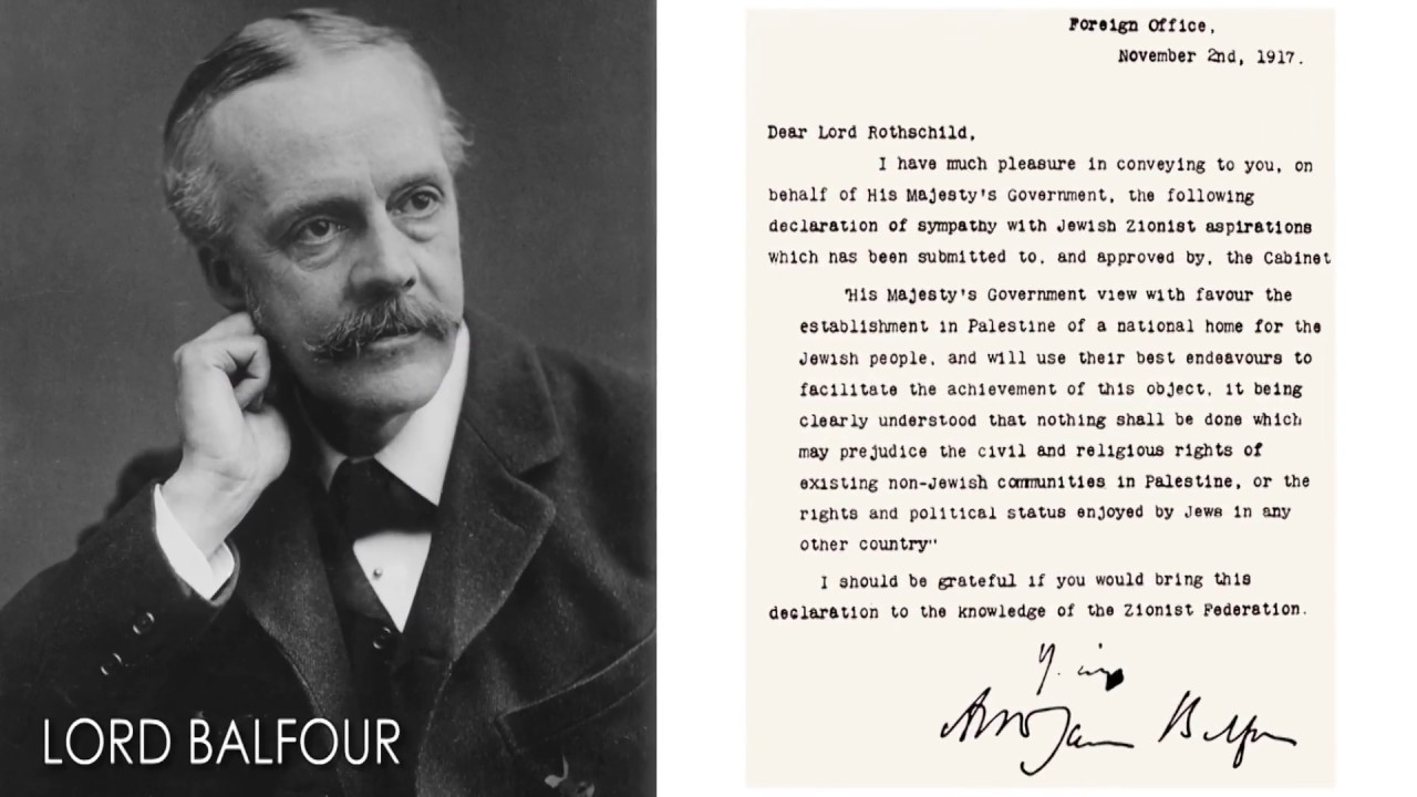 The Balfour Declaration Youtube
