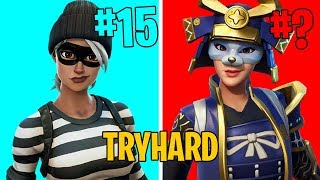 TOP 15 MOST TRYHARD SKINS OF FORTNITE!