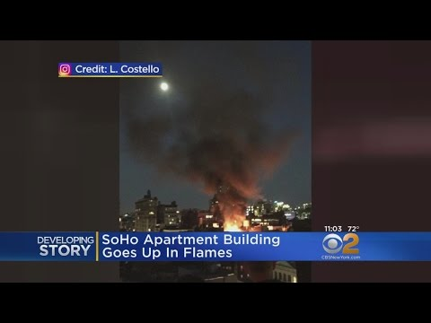 Fire Engulfs SoHo Building
