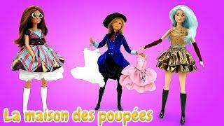Vidéo en français pour enfants. Barbie et ses copines font les magasins