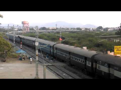 Train snaking: Mumbai LTT- Coimbatore kurla express leaving Dharmavaram jn