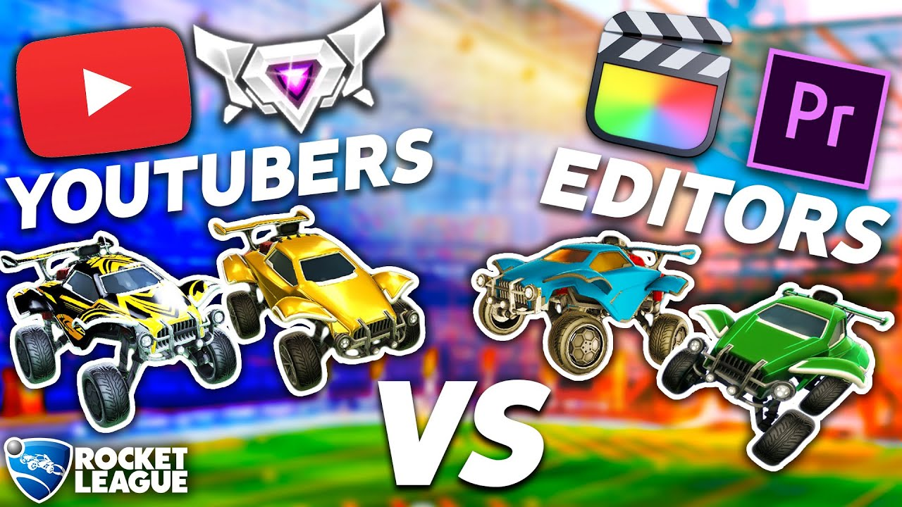 ROCKET LEAGUE YOUTUBERS VS. THEIR EDITORS, WHO WINS?