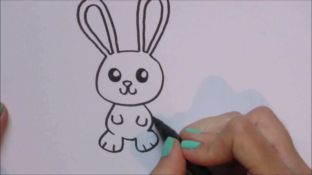 konijn rabbit tekenen how to draw 46