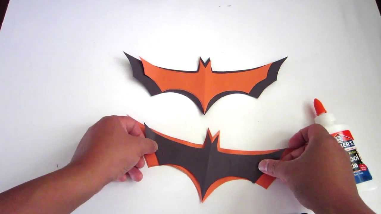 how to make easy halloween bats out of paper - lana3lw - youtube
