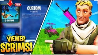 #Fortnite - HOSTING Skrims And Private Matches Anyone Can Join (Also Playing Regular Matches)