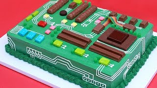 Repeat youtube video HOW TO MAKE A MOTHERBOARD CAKE - NERDY NUMMIES