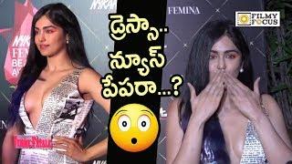 Adah Sharma Shocking Paper Dress at Nykaa Femina Beauty Awards - Filmyfocus.com