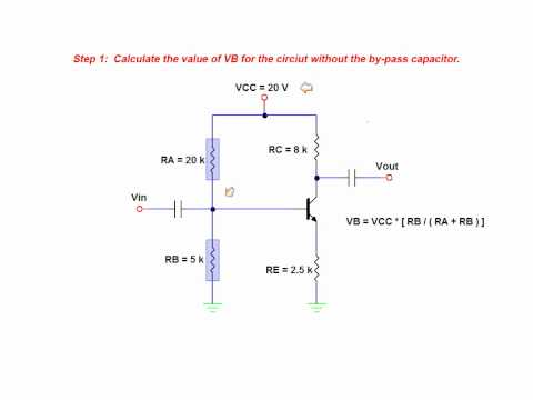The Effects Of A By-Pass Capacitor On Amplifier Voltage Gain - BJT common emitter amplifier
