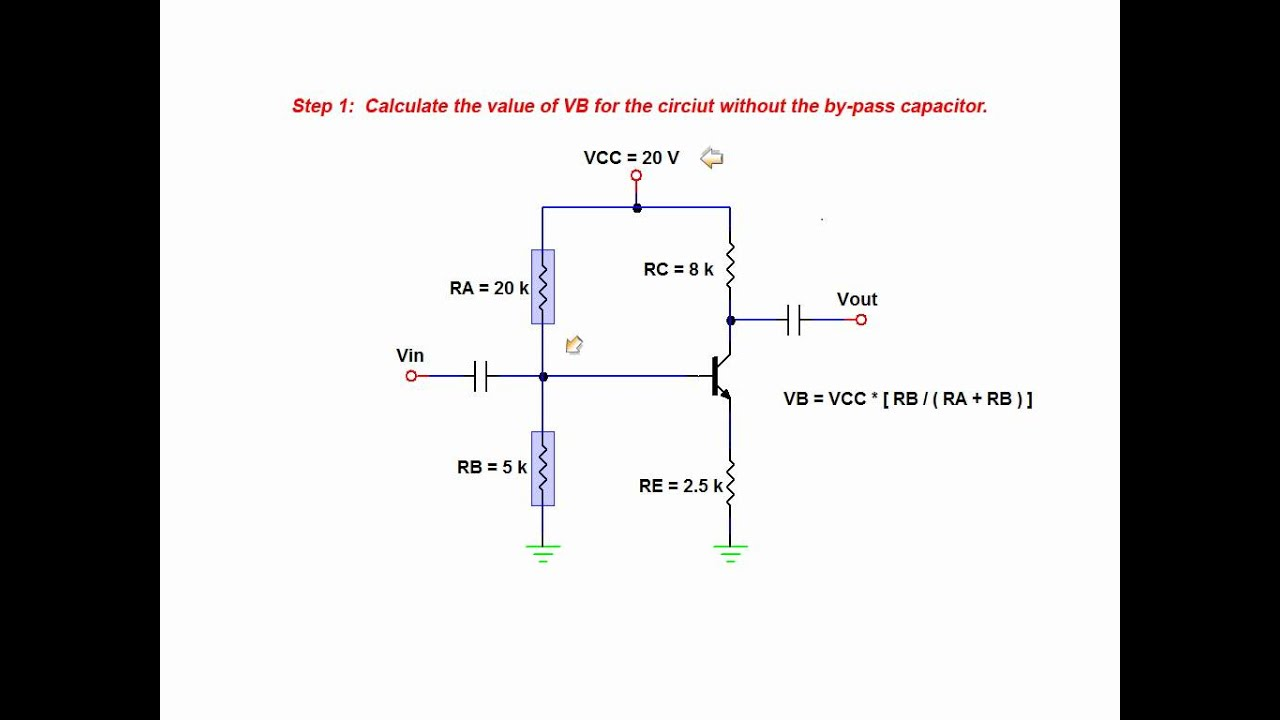 The Effects Of A By Pass Capacitor On Amplifier Voltage Gain Bjt Audio Circuit Using Mosfet First Simple Common Emitter