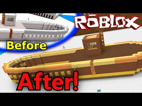 Painting My Big Ship! - ROBLOX Build a Boat