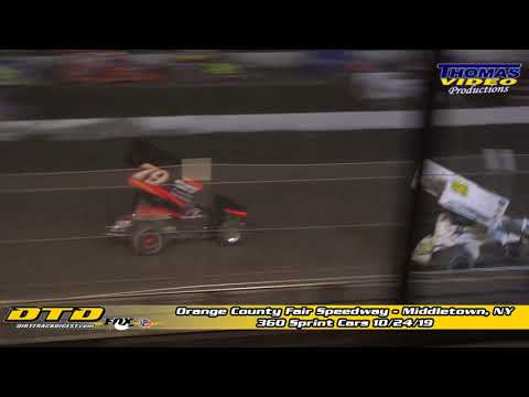 Highlights: 360 Sprint Cars at Orange County Fair Speedway 10/24/19