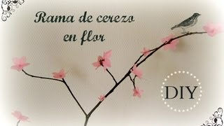 DIY Rama de cerezo en flor / Cherry blossom branch
