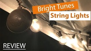 Bright Tunes String Lights with Bluetooth Speakers Review/Unboxing