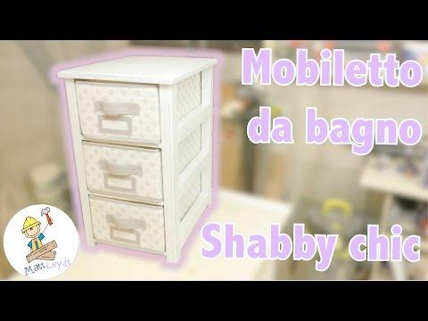 Mobile Sottolavabo Bagno Fai Da Te.Come Costruire Un Mobile Da Bagno Shabby Chic Fai Da Te Youtube