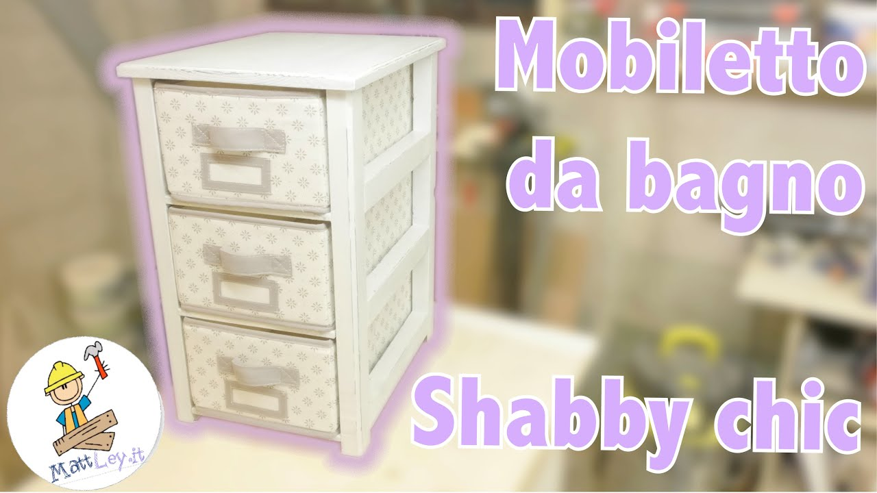 Bagno Shabby Shabby Chic Cabinet Woodworking Project