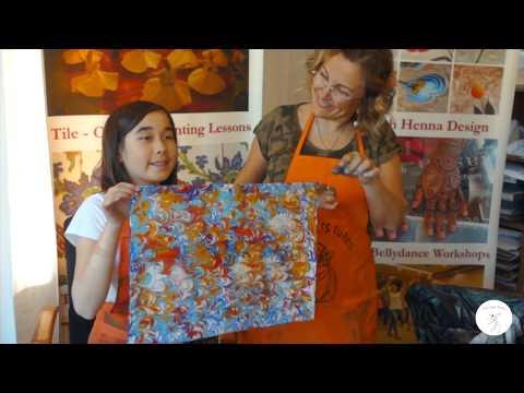 Learn to make Ebru marbling art