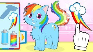 BABY PETS 🌈 Kira Dresses up as Rainbow Pony | Cartoons for Children