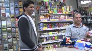 Accused shoplifter, clerk get into fight