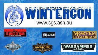 WINTERCON 2018 21-22 JЏLY CANBERRA - WARHAMMER 40K, FOW, MEG, BOLT ACTION, JUDGEMENT AND MORE