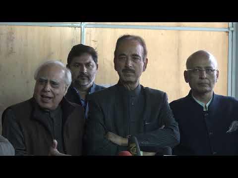Ghulam Nabi Azad and Kapil Sibal addresses media in Parliament House on SC verdict on Rafale deal