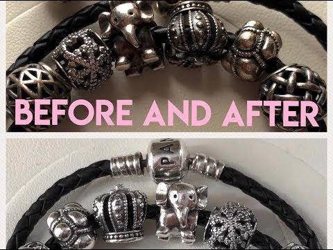 Pandora Cleaning Using Toothpaste: Before And After