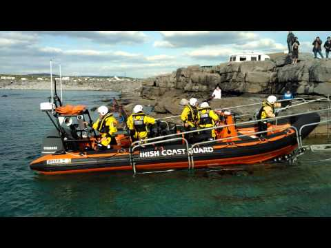 Doolin Coastguard launch and dolphin at Doolin pier.mp4