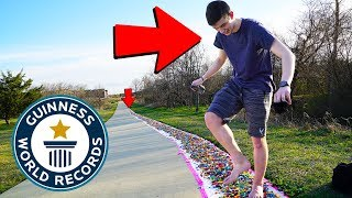 BEATING DUDE PERFECT's LEGO WORLD RECORD.. (+55,000 LEGOS)