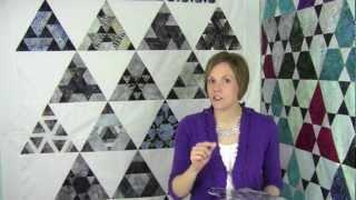 Pravítko na patchwork  Hex N More Ruler video