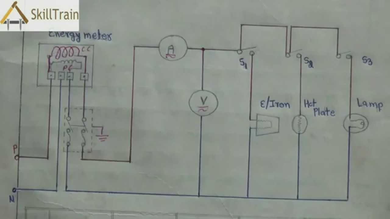 diagammatic representation of simple house wiring (hindi ... simple wiring diagrams electricity #7