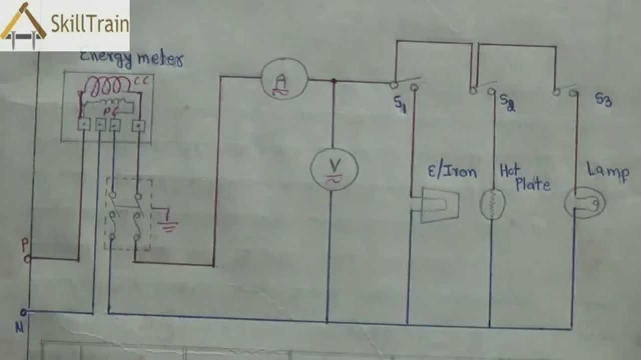 Diagammatic Representation Of Simple House Wiring (Hindi