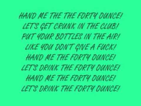 Brokencyde - 40oz LYRICS!!!
