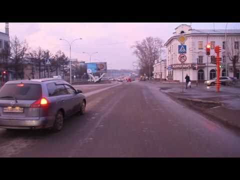 Кемерово. Автобус 51А - 21-й микрорайон. Bus route 51А, destination - 21-st microdistrict