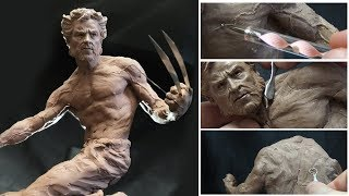 Sculpting Timelapse  - Logan (Wolverine)