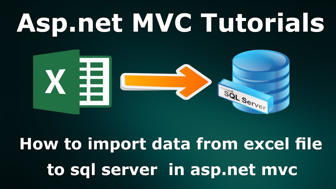How to import data from excel file to sql server database in asp net mvc