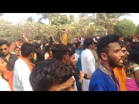 GH Raisoni college of Engineering, Pune traditional Day 2018 and National Antham , shiv garjana