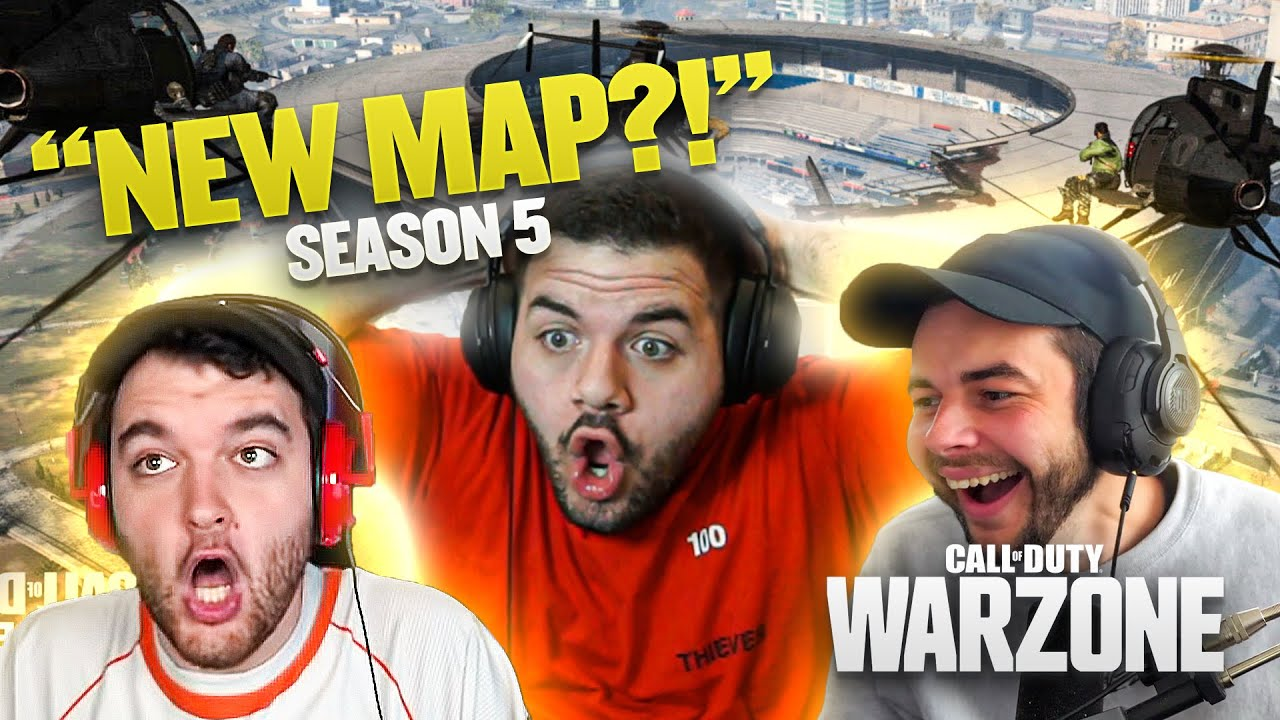 WARZONE SEASON 5 REACTION ft. CouRage, Nadeshot, & Noahj456!