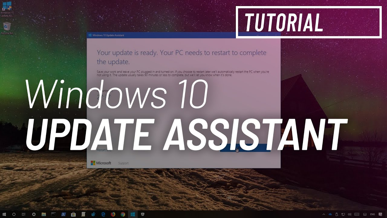 Windows 10 version 1809 download using 'Update Assistant
